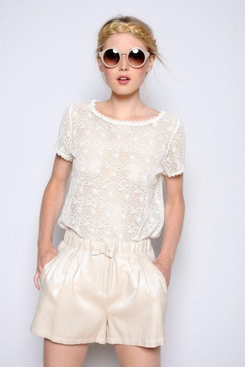 f24aad7c42b1 Blouse Marelle ecru - Blouses et chemises - categories - e-shop ...
