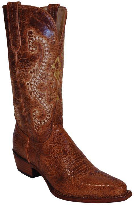 """Ferrini Women's Old Crazy Distressed 12"""" Snip Toe Cowboy Boots - Cognac $169.97"""