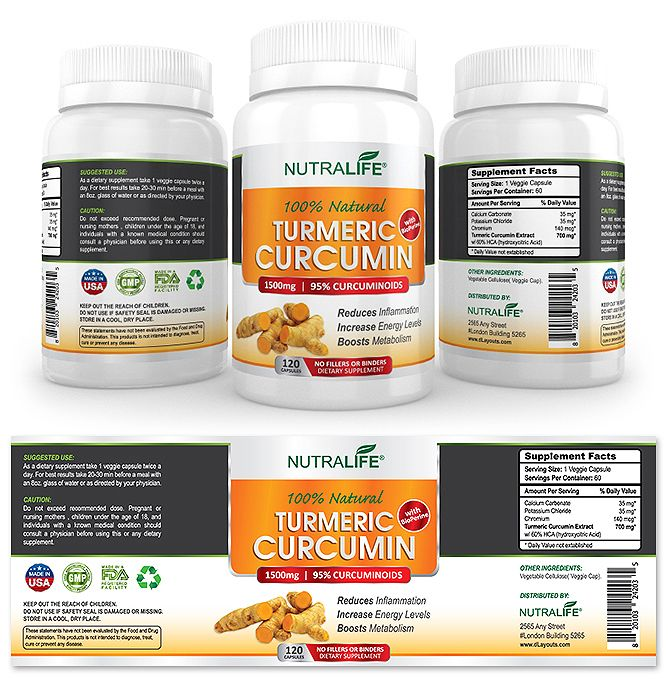 Turmeric Curcumin Supplement Label Template    wwwdlayouts - labeltemplate