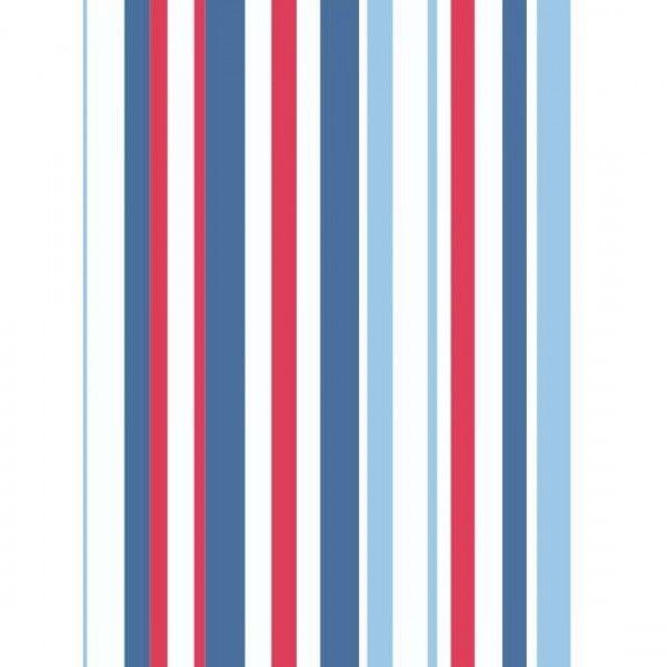 Super Stripe Blue Red And White Wallpaper