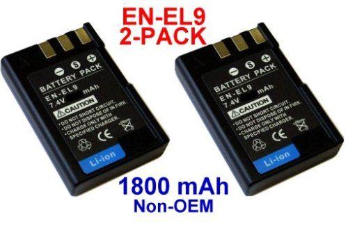 Nextop 2 Packs Nikon En El9 Brand New 1800mah Compatible Battery For Nikon D40 D40x D60 Camera Nikon Camera Battery Charger Camera Battery