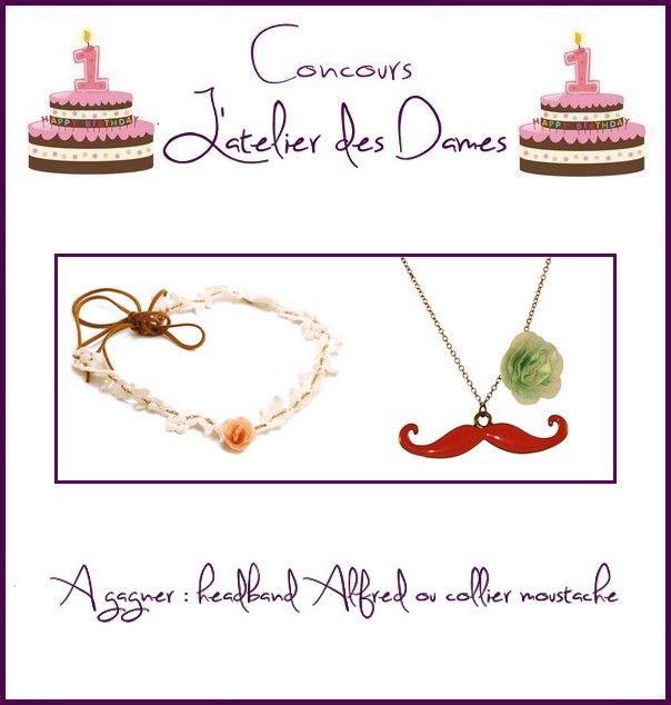 Star in the grass: Grand concours anniversaire « 1 an » du blog 2013 #21: L'atelier des Dames ....
