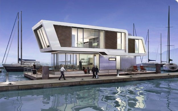 Floating Home Design Floating House Modern Contemporary House Plans House Design