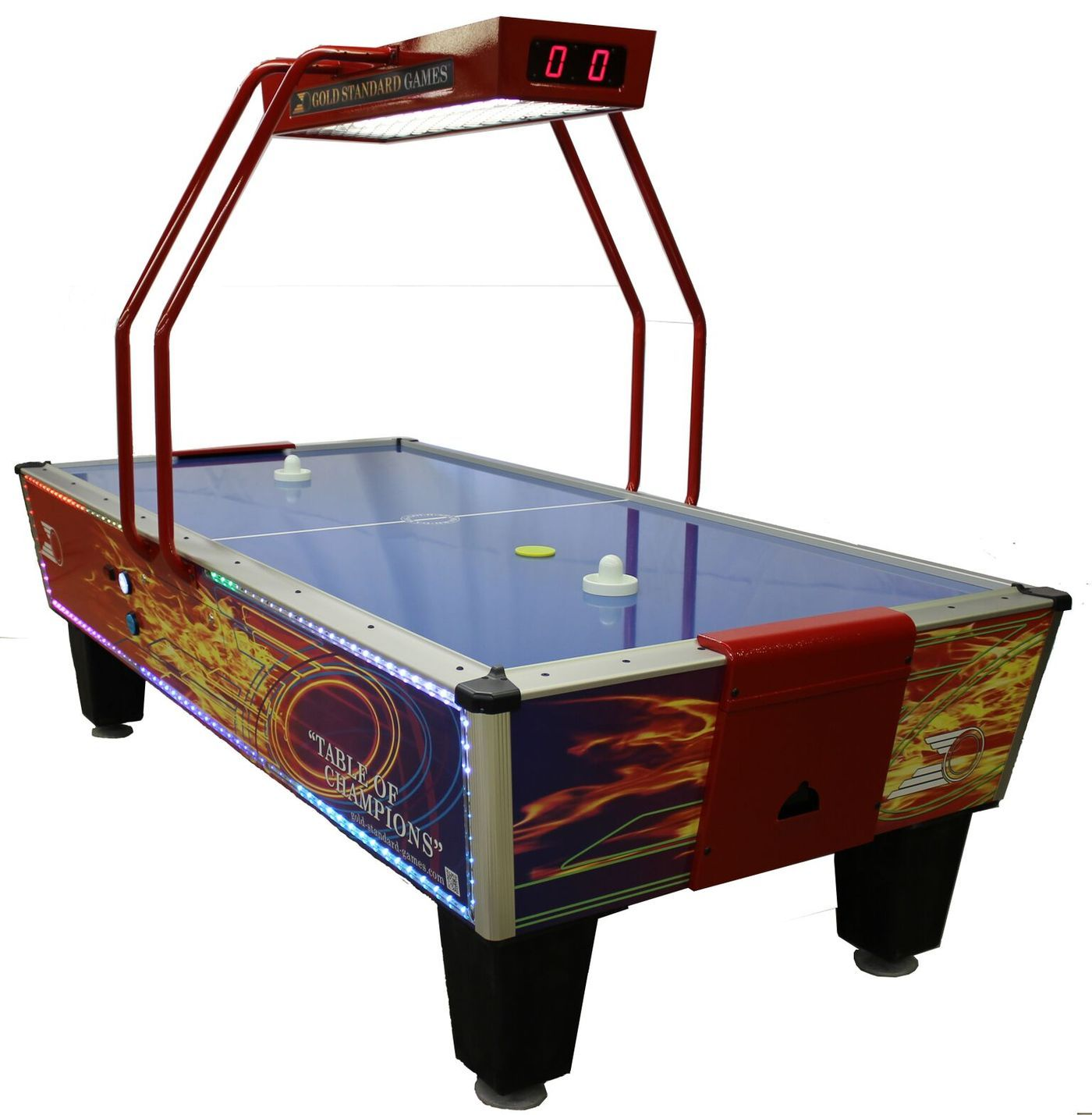 Gold Standard Games Gold Flare Home Elite Air Hockey Table Air Hockey Air Hockey Table Sunnydaze Decor