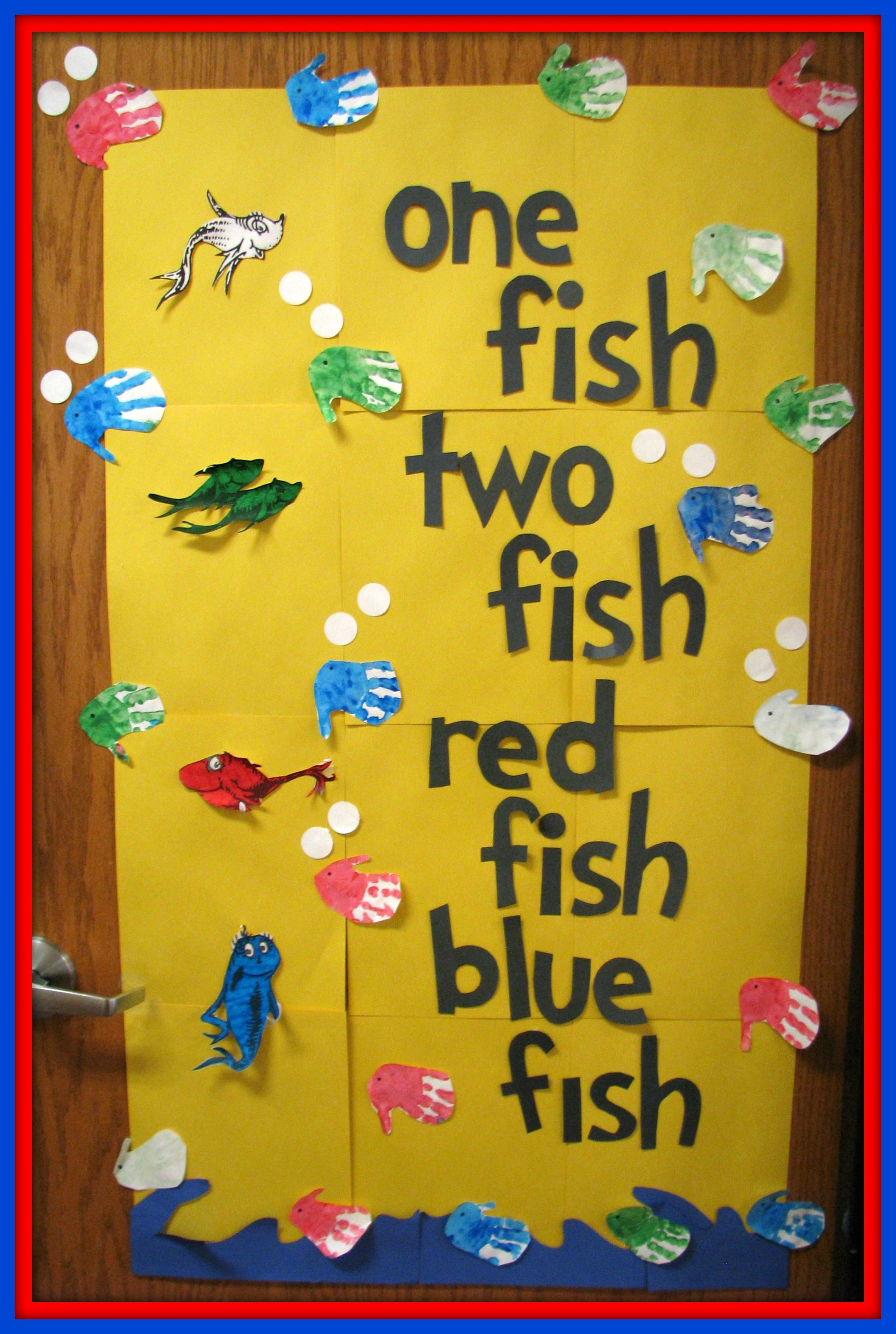 One Fish Two Fish Red Fish Blue Fish Classroom Door
