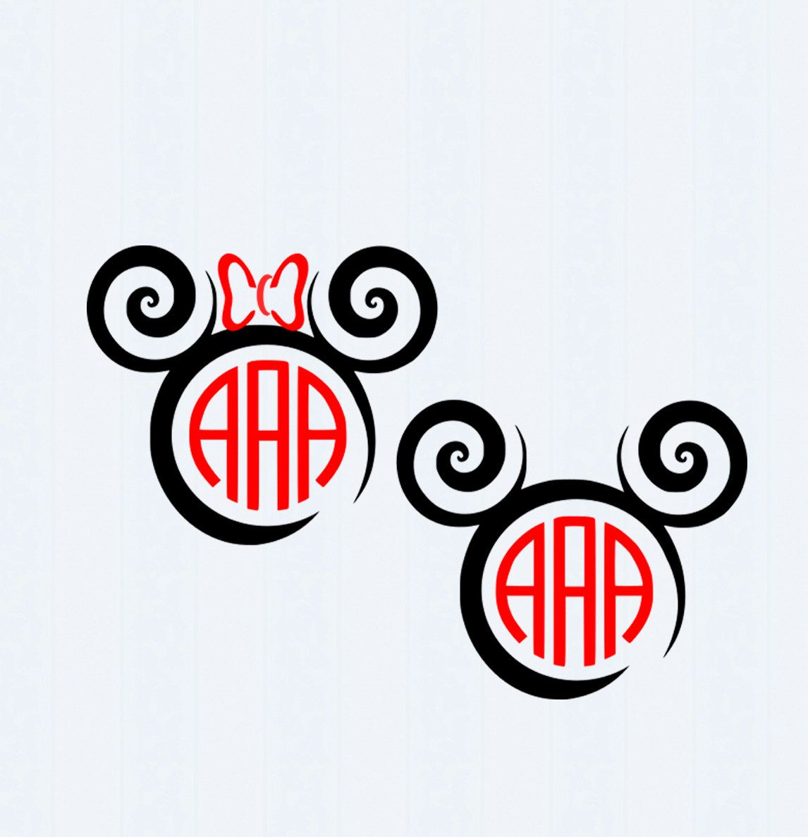 Download Mouse Ears SVG, Bow Monogram, Vacation Shirts, SVG Files ...