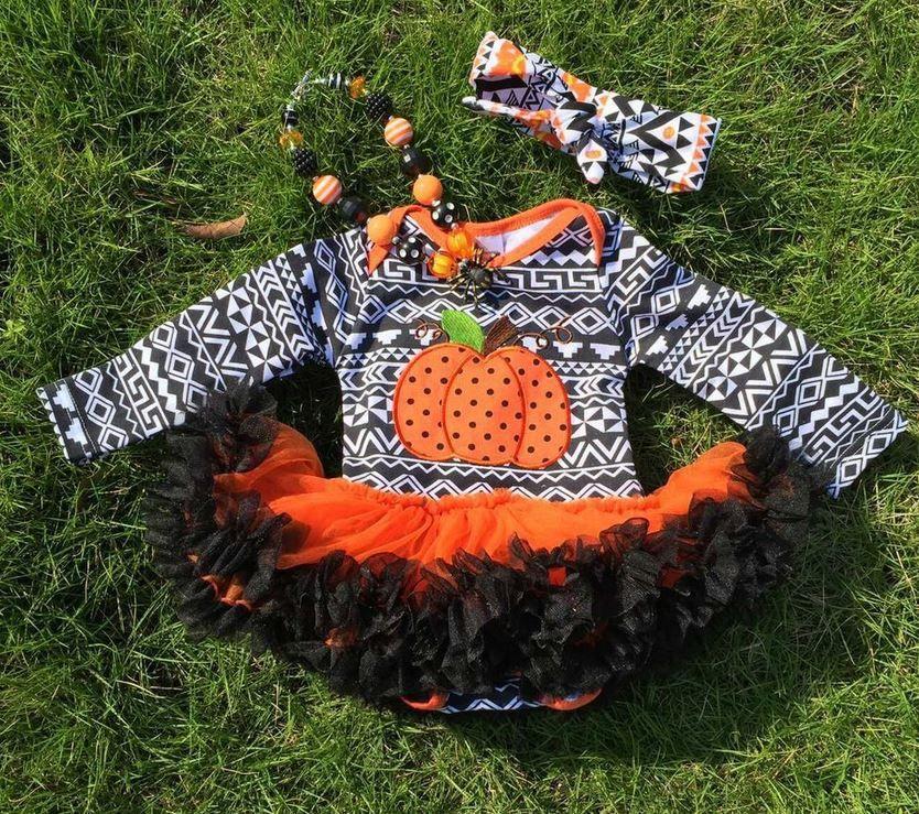 Black Aztec Pumpkin Onesie Tutu Pumpkin onesie, Pumpkin