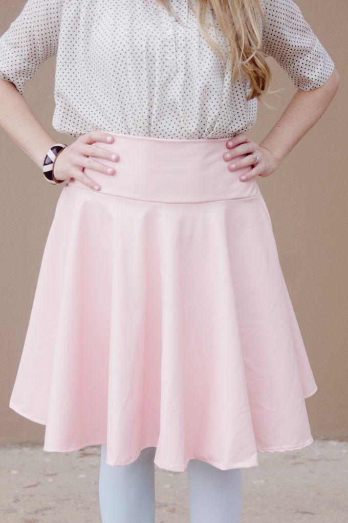 DIY PLEATHER CIRCLE SKIRT TUTORIAL | Pinterest | Circle skirt ...
