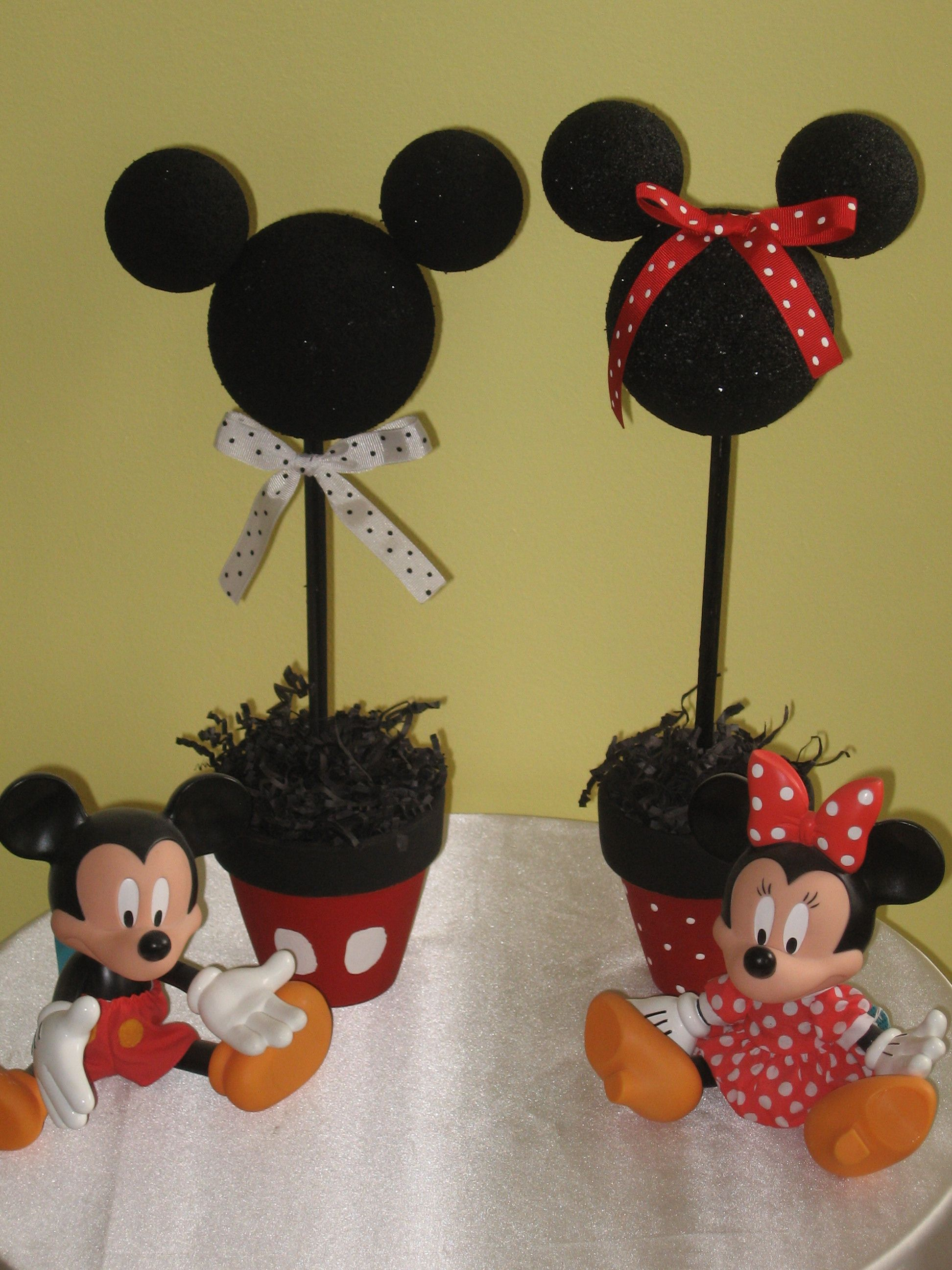 DIY Mickey Minnie Mouse Party Centerpieces Party Ideas