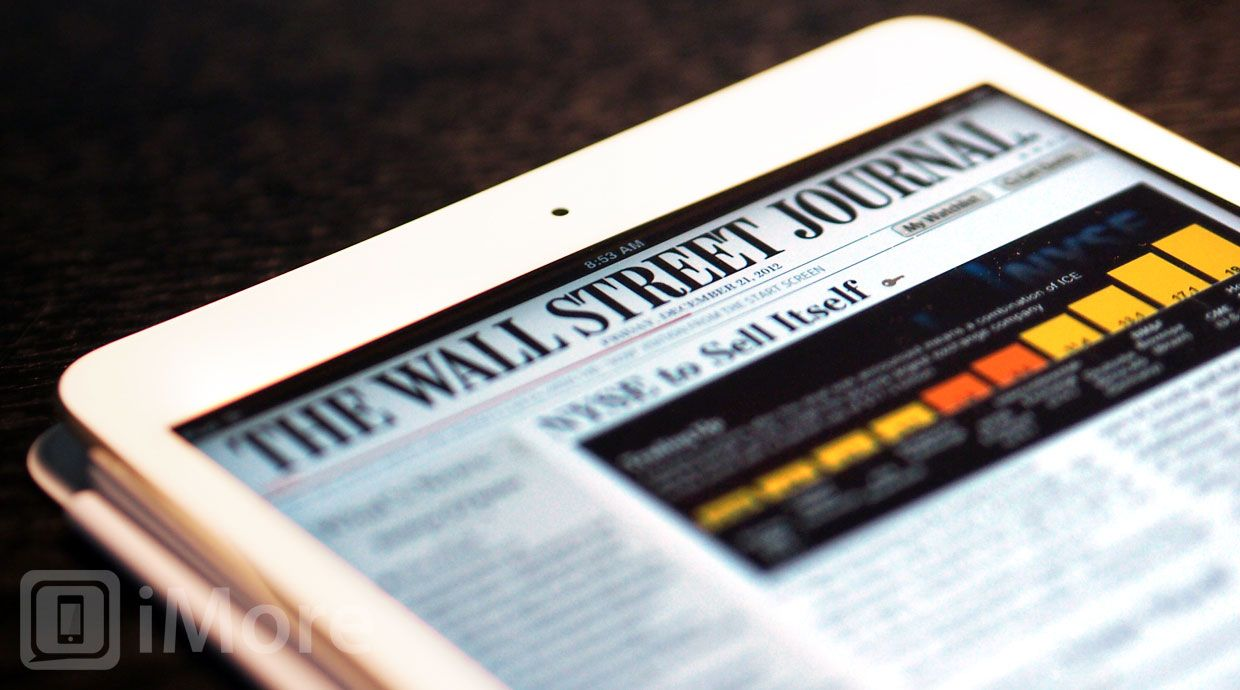 The Wall Street Journal finally comes to Newsstand | iMore