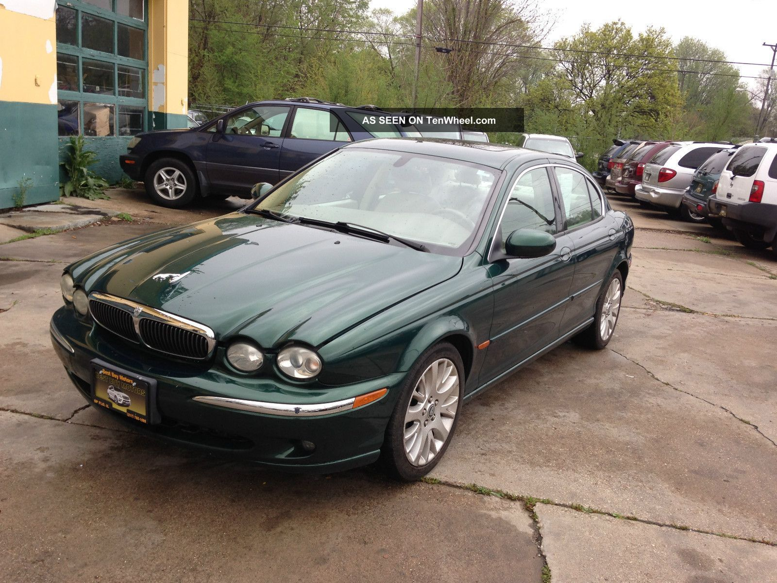 2003 Jaguar X Type   British Racing Green/beige