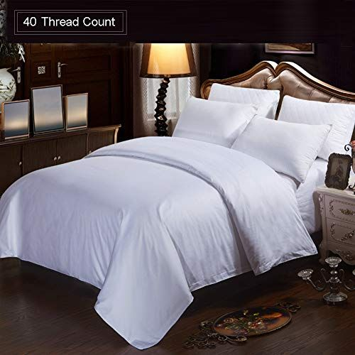 Sqinaa White Duvet Cover Hotel Quilt With Hidden Zipper And Corner Ties Satin All Season Bedding Without Pillow Shams D