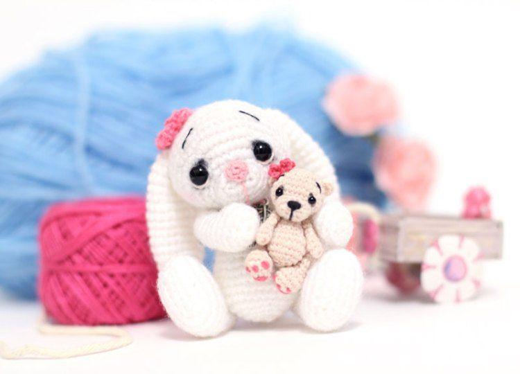 Amigurumi Schemi Italiano Gratis : Little crochet bunny pattern crochet bunny amigurumi and bunny