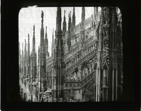 Cathedral of Milan, among the myriad of spires, Italy | saskhistoryonline.ca