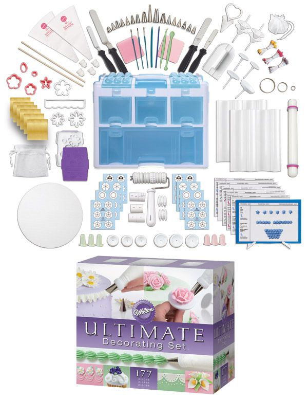 Wilton Ultimate Cake Decorating Set Just Got One Of These From The Best Husband Ever I M So Cake Decorating Set Cake Decorating Kits Wilton Cake Decorating