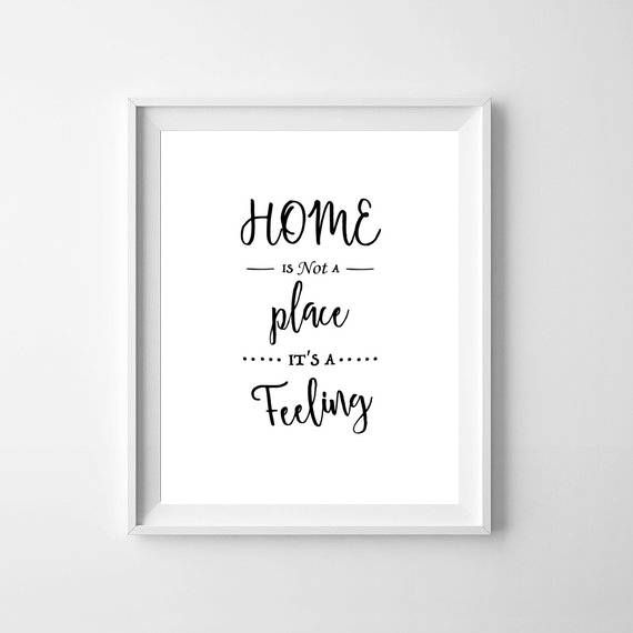 New Home Print, New Home Quotes, House Warming Print ...