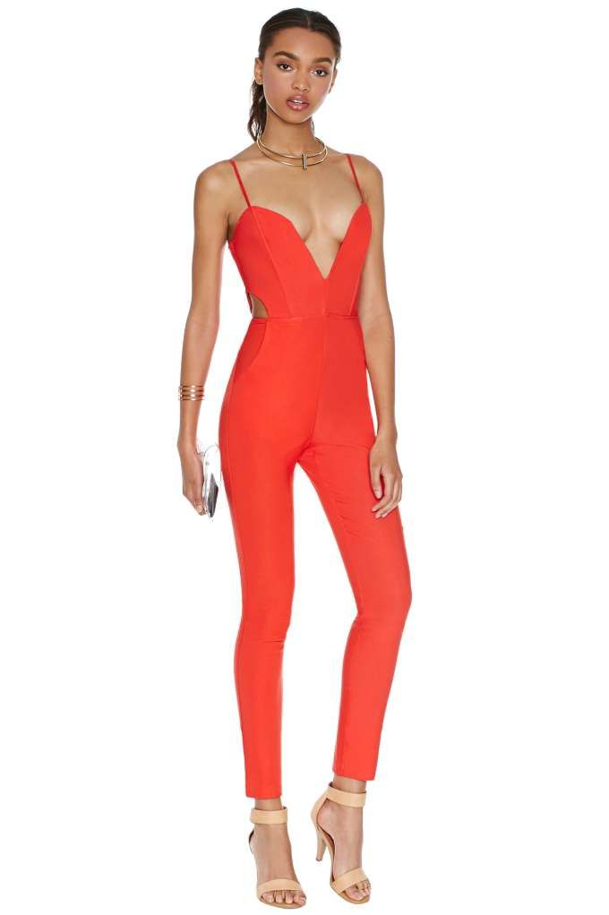 Nasty Gal Midnight Run Jumpsuit - Tomato   Shop Clothes at Nasty Gal