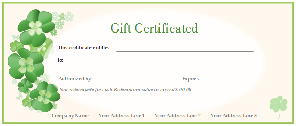 printable and editable gift certificate templates provided for free