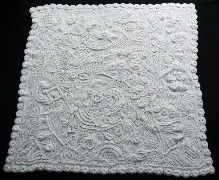 Love white on white.... Freeform Crochet Blanket hykevandermeer ...