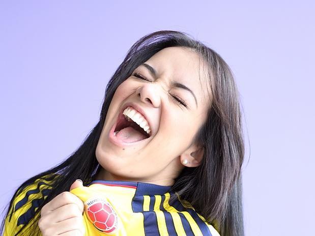 Chica Hincha de la Selección Colombia