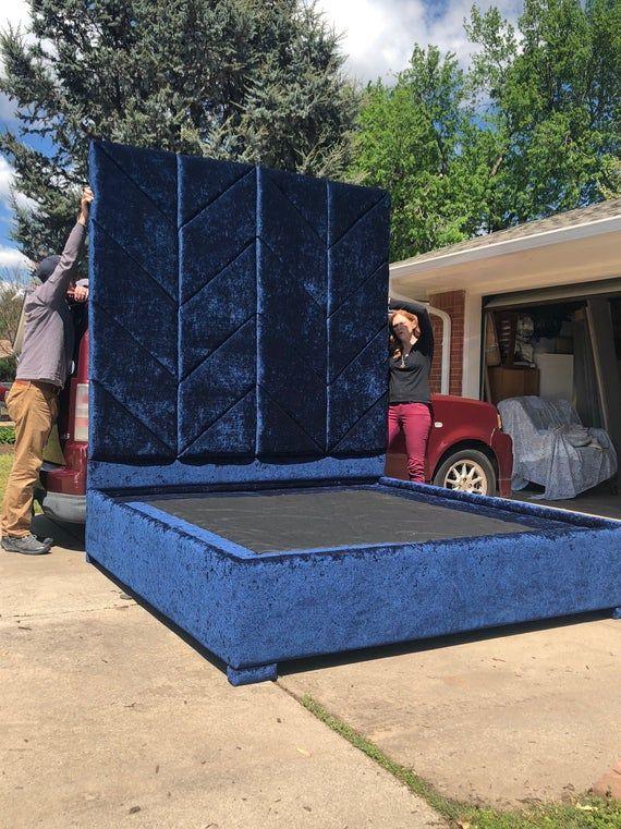 Extra Tall Headboard Panels Platform Bed Frame Upholstered