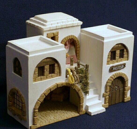 Resultado de imagen para casas para pesebres belen de - Casitas para pesebre de carton ...