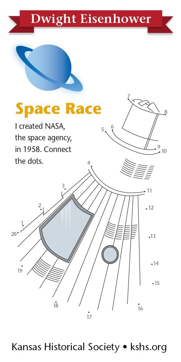 I created NASA, the space agency, in 1958. Connect the ...