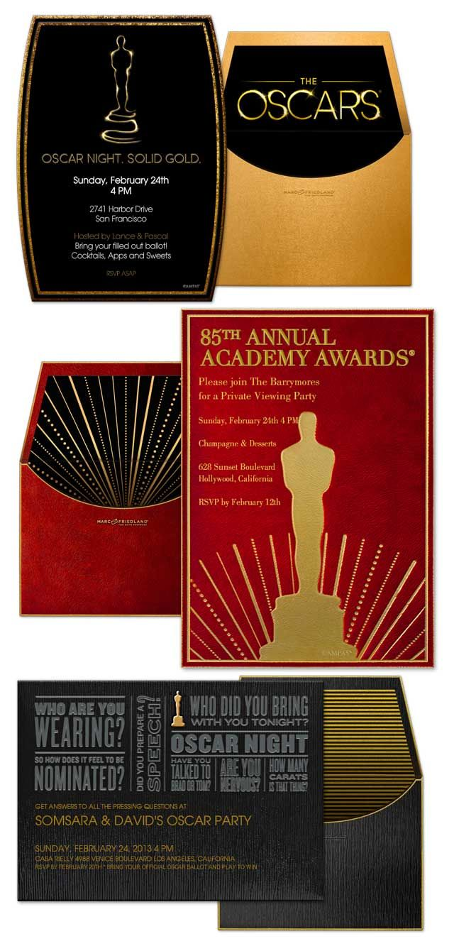 The Oscar Collection by Marc Friedland exclusively for Evite ...