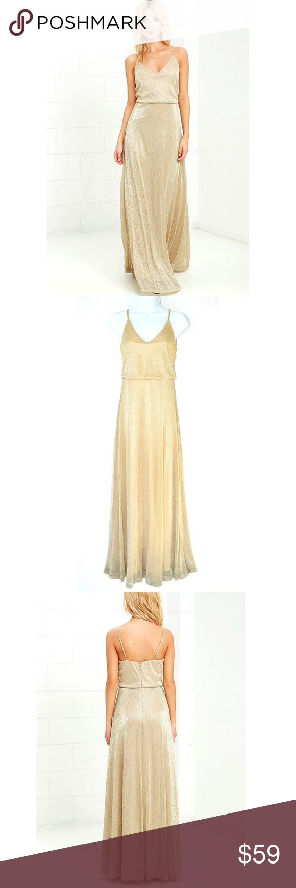 c514754adf LULUS Friend of the Glam Gold Maxi Dress All the glamour seekers know that  an amazing