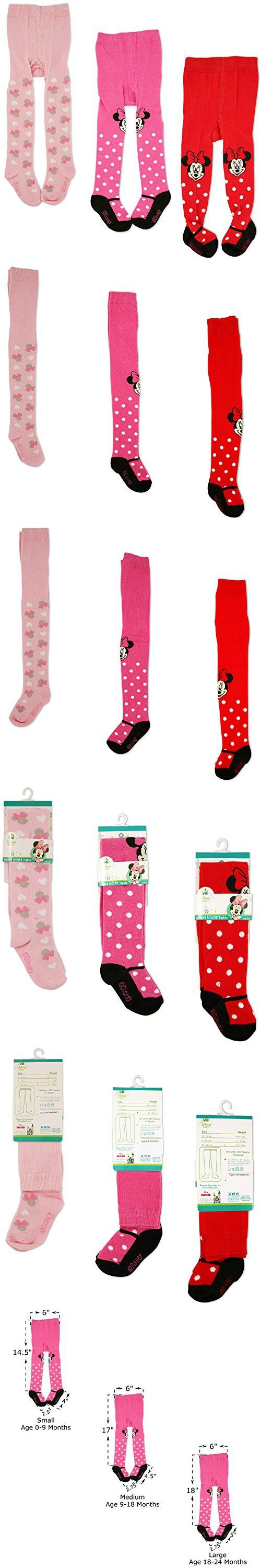 Disney Baby Girls Minnie Mouse Polka Dot Tights Multi-Color Variety Pack