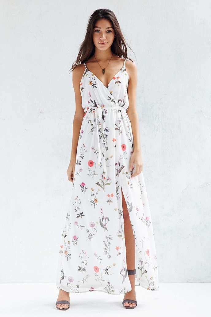 Oh My Love Floral Chiffon Maxi Dress   Urban outfitters, Rompers ...