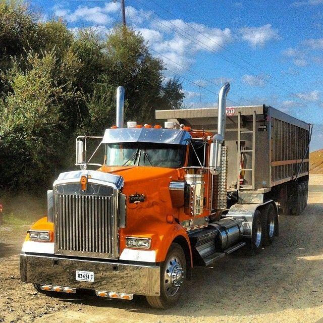 Kenworth W900 Day Cab Big Rig Trucks Dump Trailers Kenworth