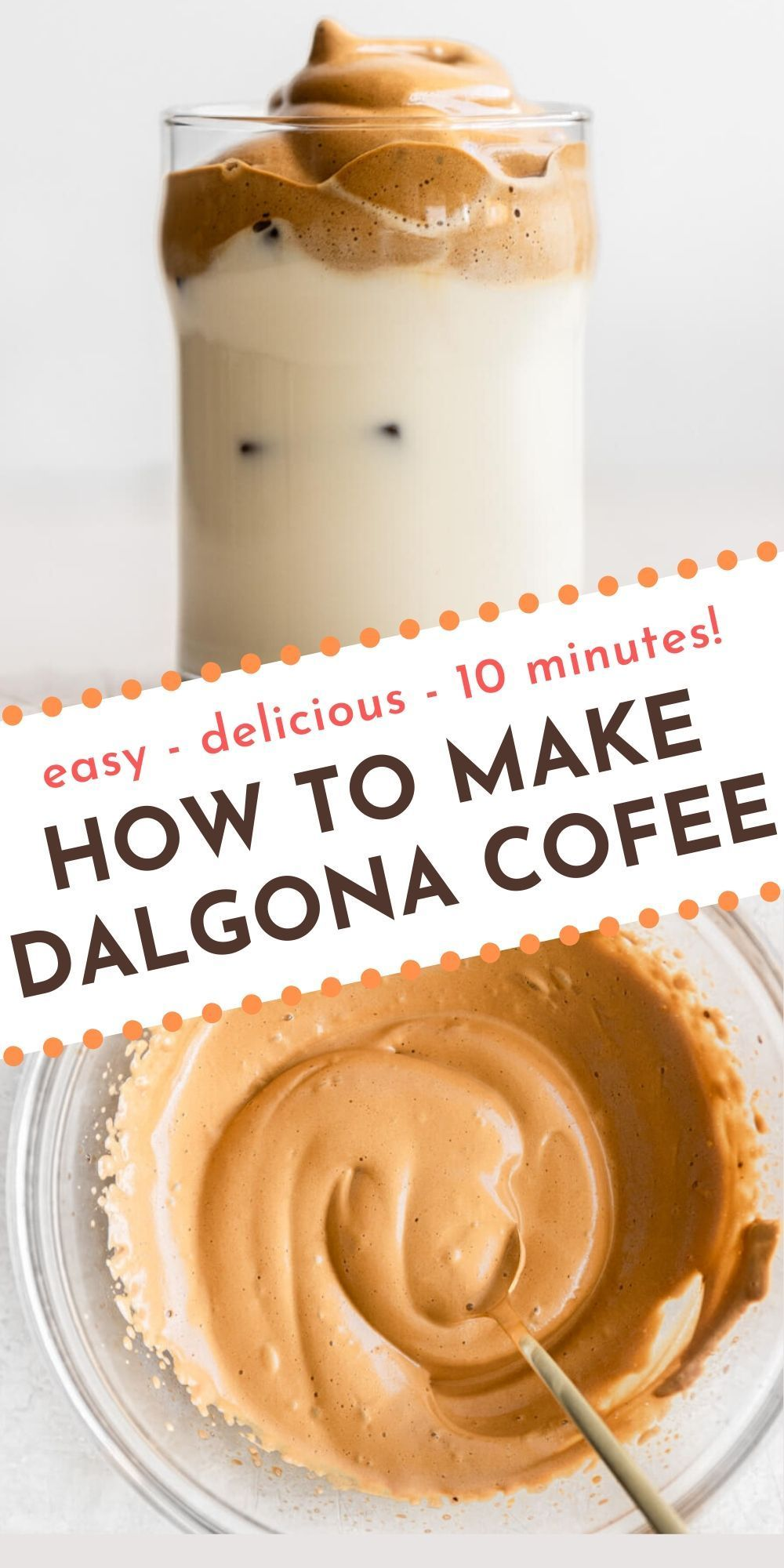 How to Make Dalgona Coffee (Whipped Coffee) Real