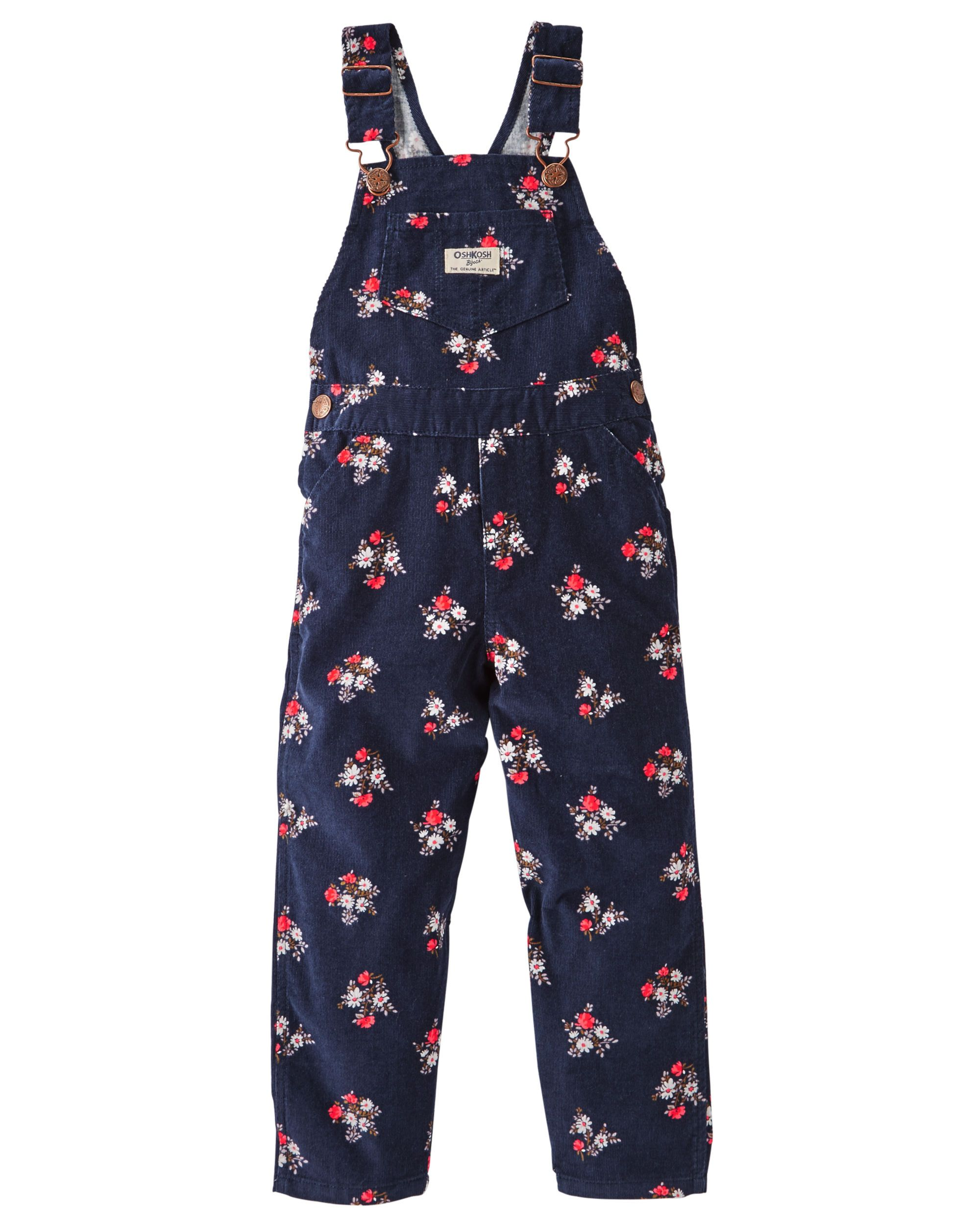 a67bc615132 Baby Girl Floral Corduroy Overalls from OshKosh B gosh. Shop clothing    accessories from a trusted name in kids