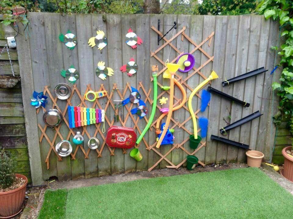 Music water wall sensory garden asd kid stuff for Garden design ideas for schools