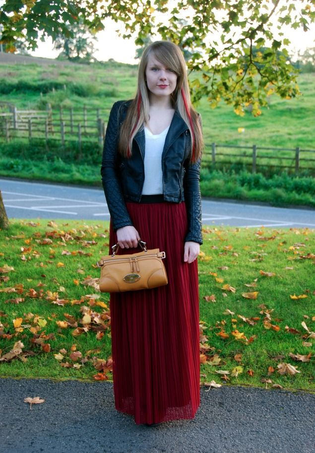 17 Best images about Burgundy skirts on Pinterest | Full midi ...