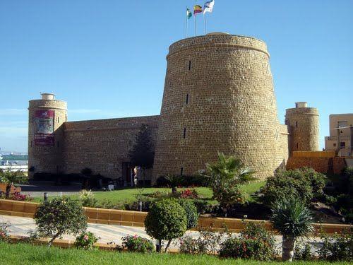 Castillo Santa Anta - Roquetas de Mar, Almeria, España.