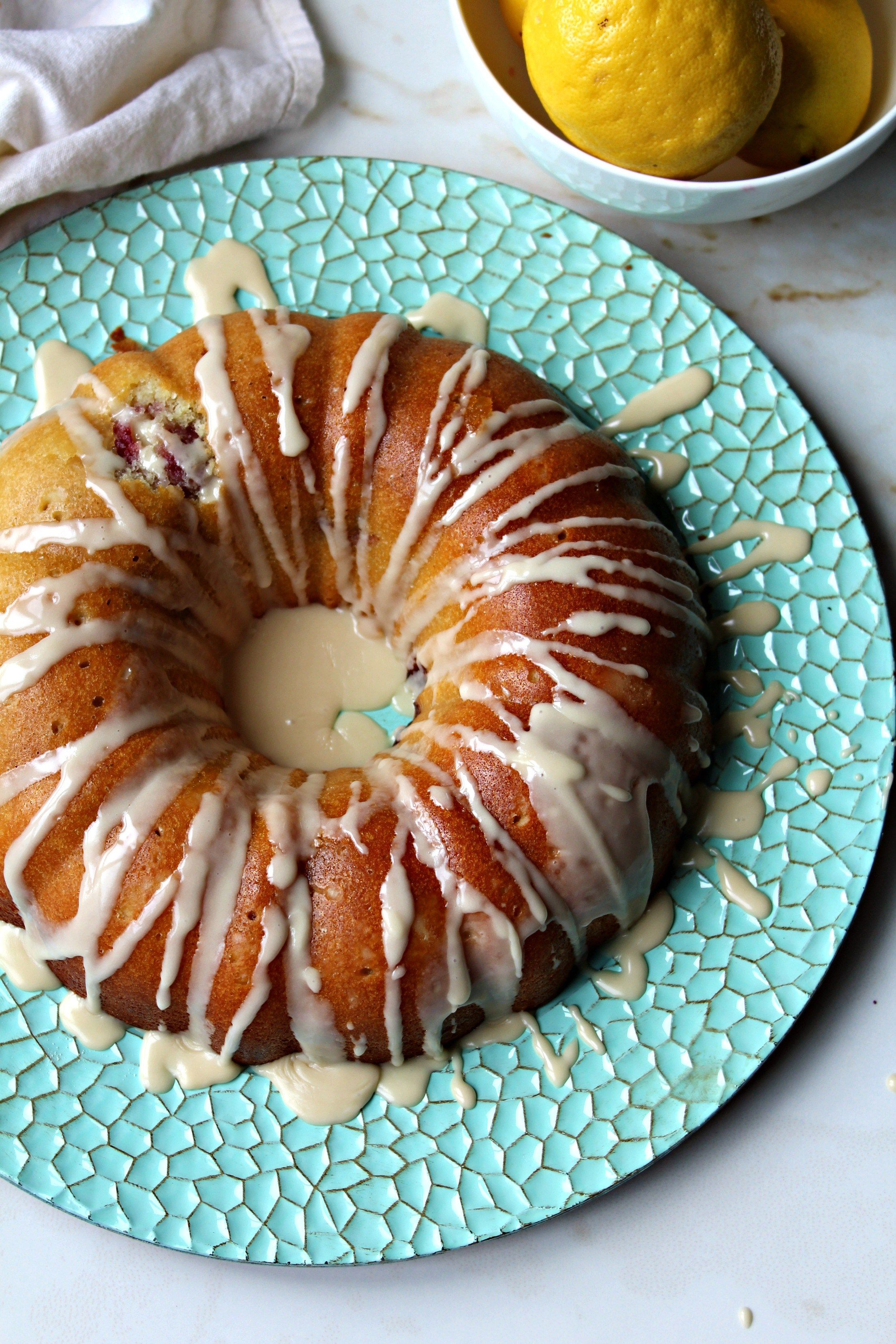 Lemon raspberry bundt cake the secret ingredient is