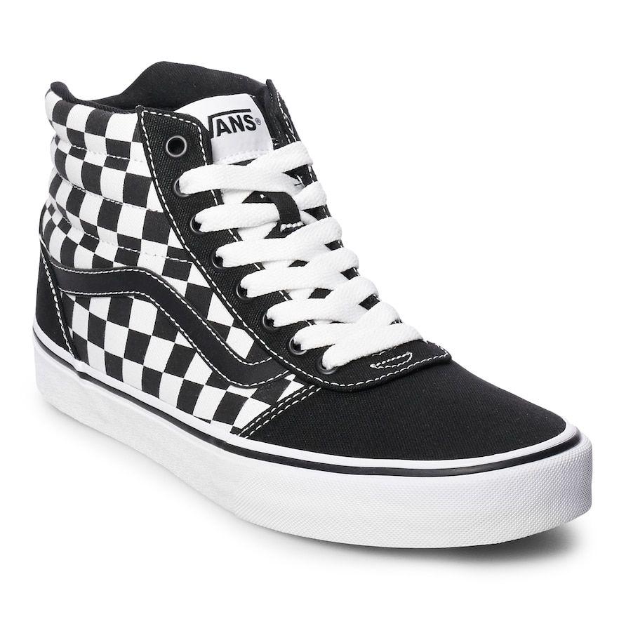 af6c0985d Vans Ward Hi Checkerboard Men s Skate Shoes