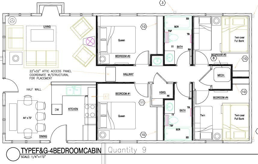 2 floor 5 bedroom cabin plans buscar con google house