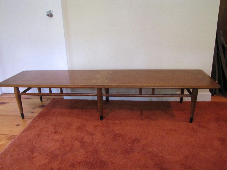 lane acclaim coffee table mid century