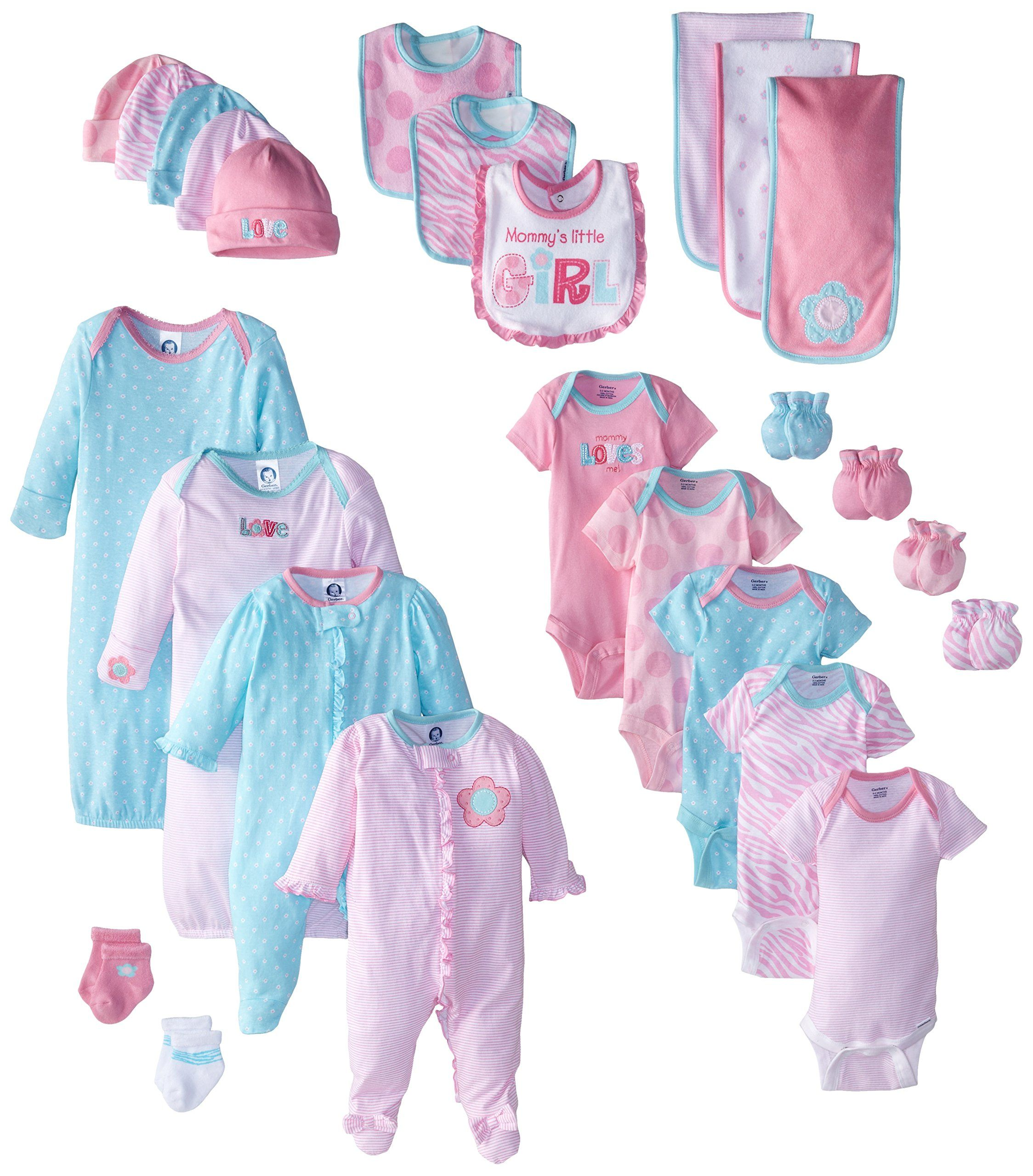 Garanimals 21 Piece Layette Set for Baby Girl Flowers Pink 0-3 Months