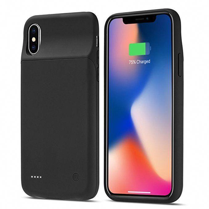 new concept c5ed1 fda9f iPhone X Battery Case, Allable 5000mAh Slim Protective External ...