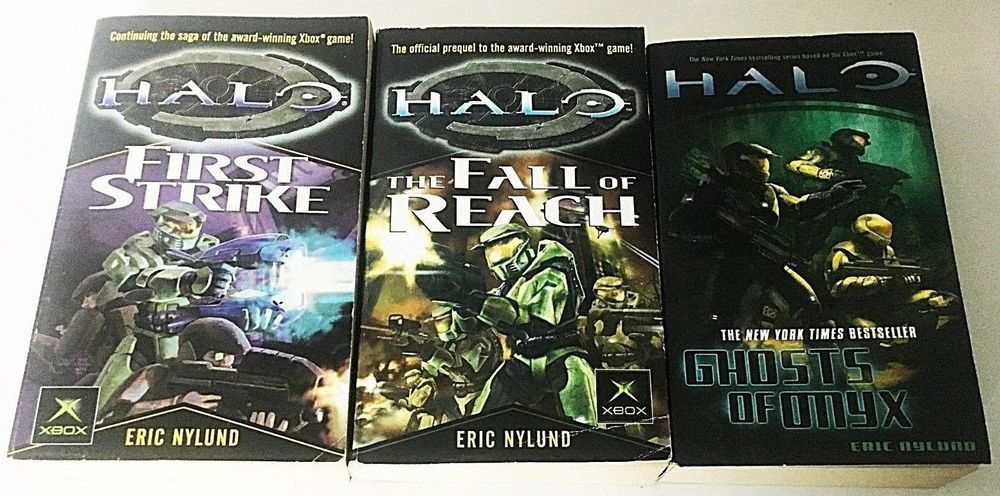 Details About Four Halo Novels First Strike The Flood Fall Of