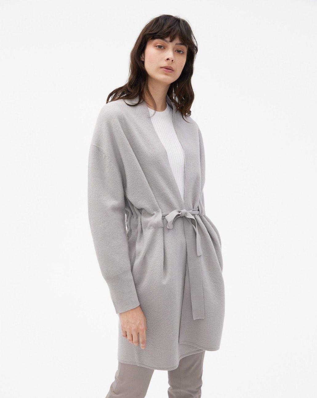 314f5d00 Boiled Wool Coat Cardigan Taupe - New Arrivals - Woman - Filippa K ...