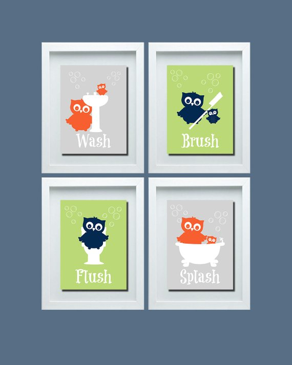 Owl Bathroom Wall Art, Owl Bathroom Decor, Kids Bathroom Rules, Owl Wall Art, Owl Bathroom Art, Gender Neutral Bathroom, Choose Your Color Owl Bathroom Wall Art, Owl Bathroom Decor, Kids Bathroom Rules, Owl Wall Art, Owl Bathroom Art, Gender Neutral Bathroom, Choose Your Color Bathroom Decoration owl bathroom decor
