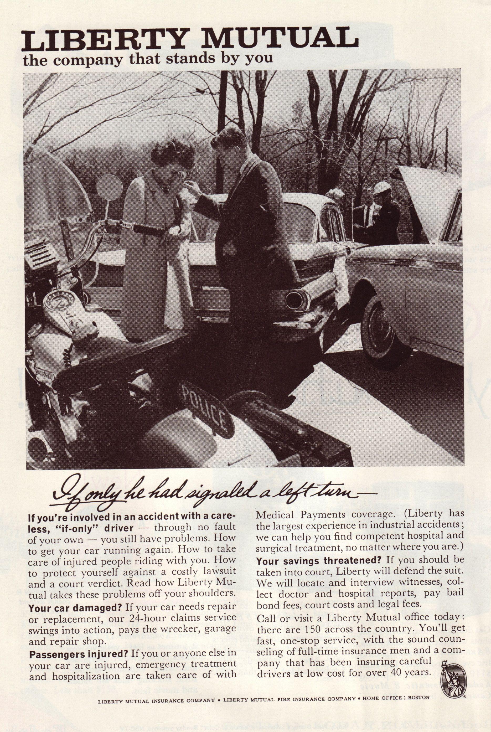 1961 Liberty Mutual Ad Liberty Mutual Mutual Insurance Mutual