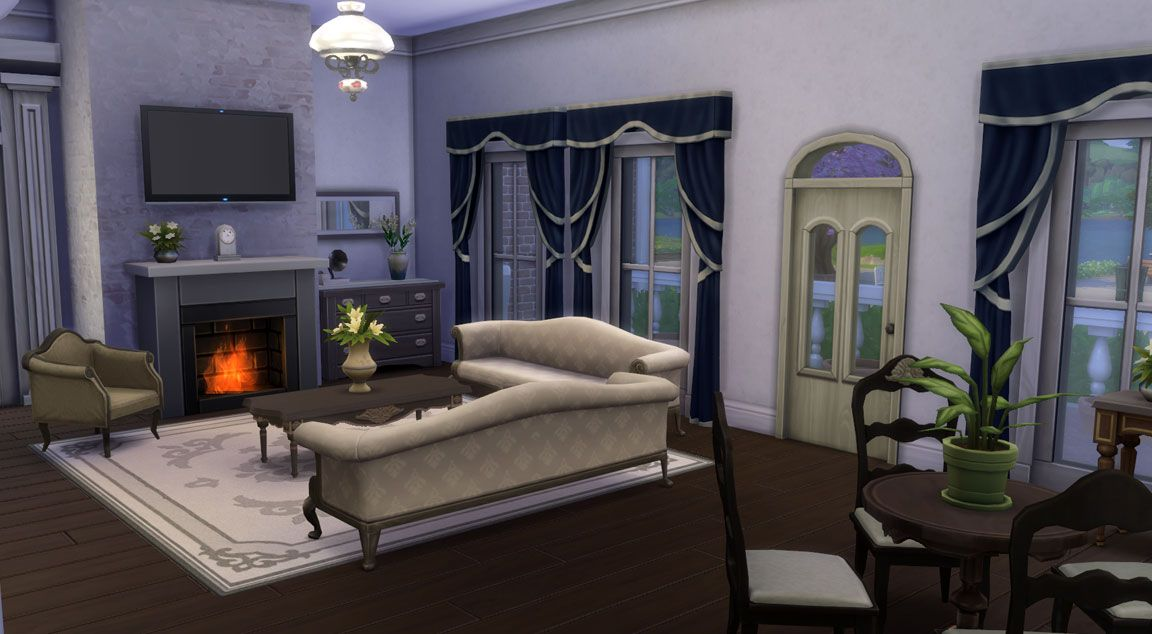 Download Family Dream House Sims Online Sims 4 Cc Furniture Living Rooms Mansion Rooms Dream House Rooms