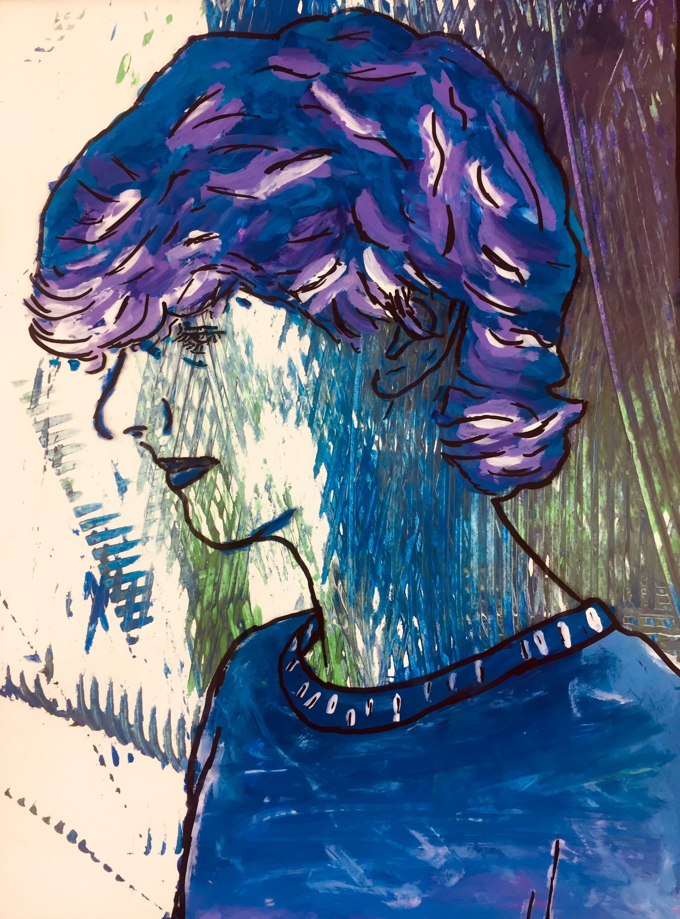 Reverse Painting Acetate Self Portraits In With