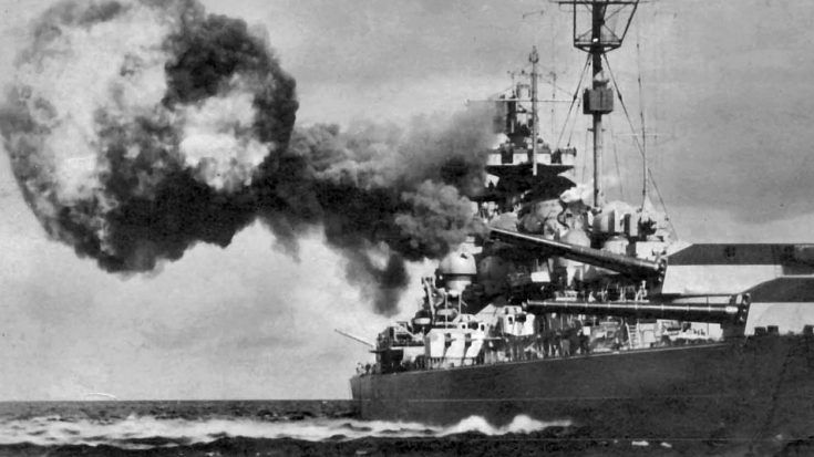 Only Film Of Germany S Biggest Warship Pummeled By Onslaught Of